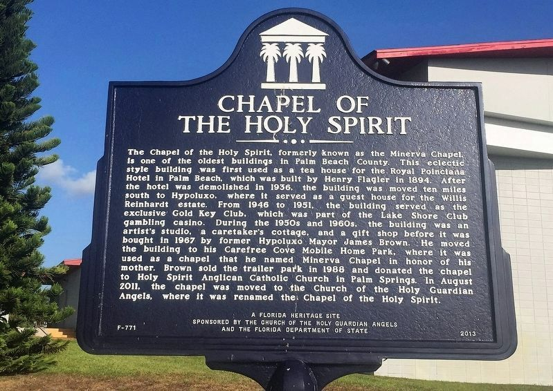Chapel of the Holy Spirit Marker image. Click for full size.