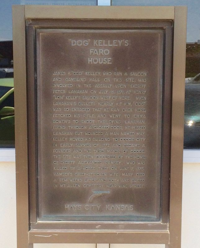 """Dog"" Kelley's Faro House Marker image. Click for full size."