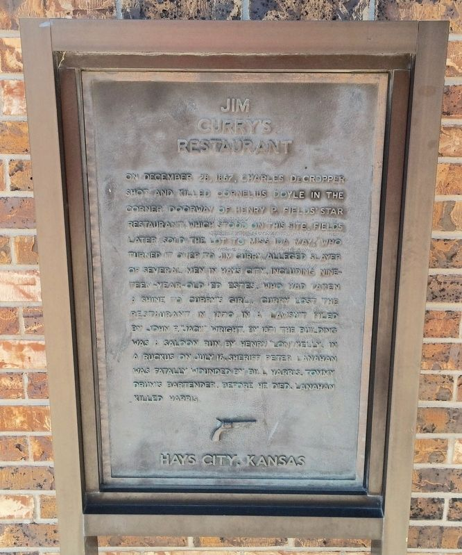 Jim Curry�s Restaurant Marker image. Click for full size.
