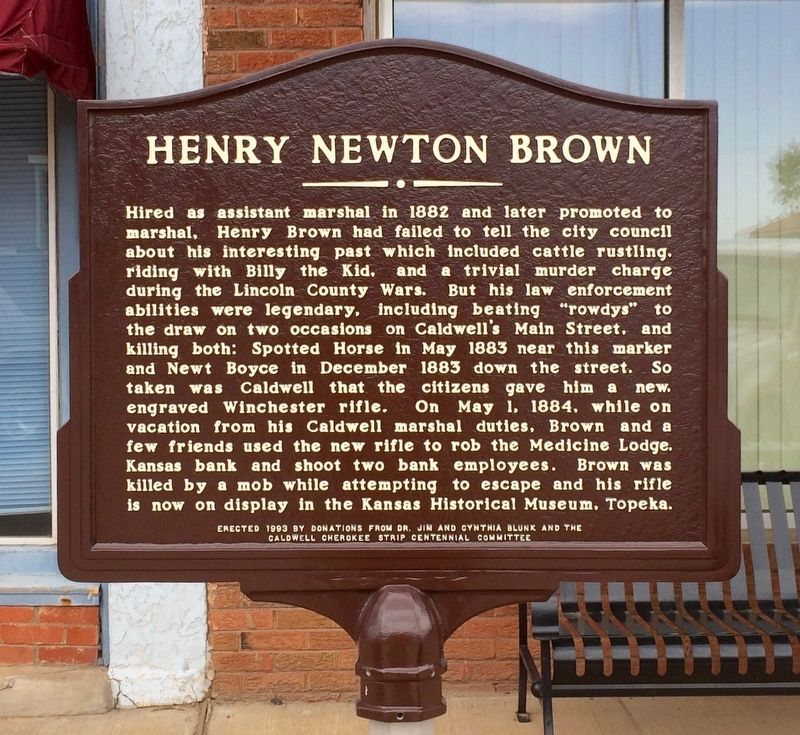 Henry Newton Brown Marker image. Click for full size.