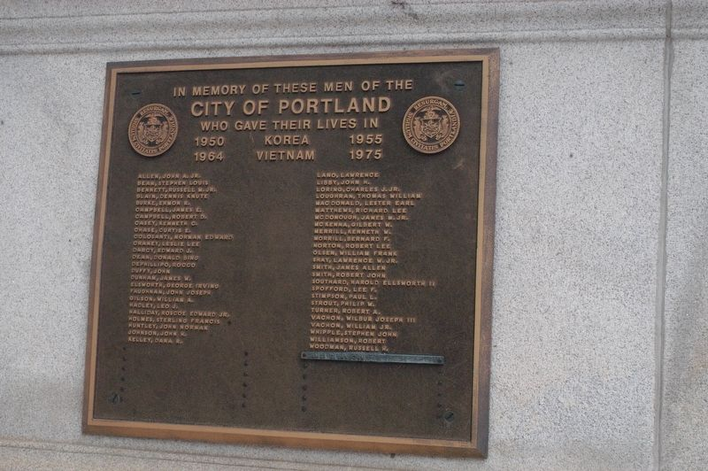 Portland Maine Korea and Vietnam Memorial Marker image. Click for full size.