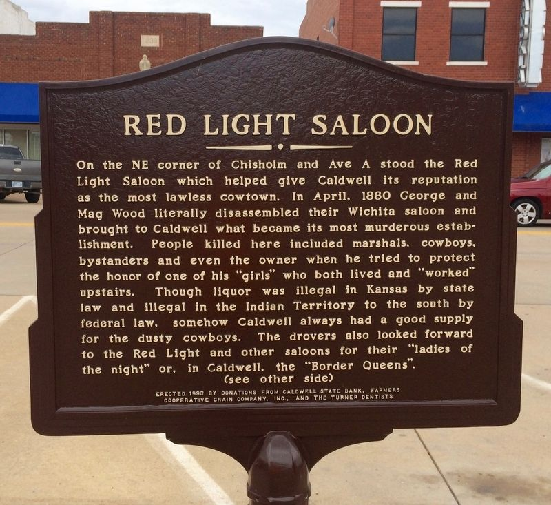 Red Light Saloon Marker image. Click for full size.