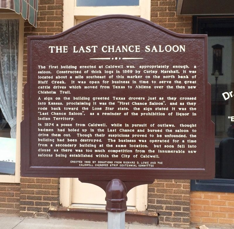 The Last Chance Saloon Marker image. Click for full size.