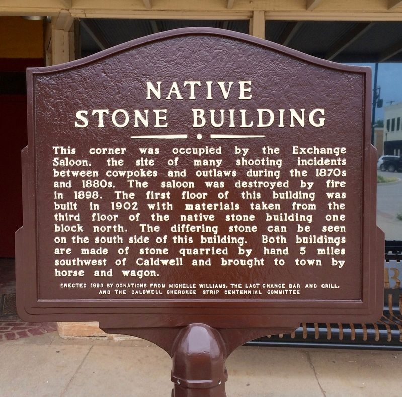 Native Stone Building Marker image. Click for full size.