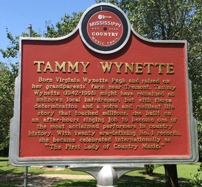 Tammy Wynette Marker (Front) image. Click for full size.