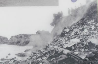 The Making of Glass Beach circa 1920 image. Click for full size.