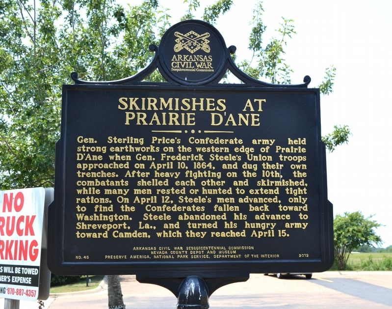 Skirmishes at Prairie D'Ane Marker image. Click for full size.