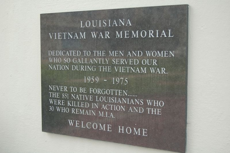 Louisiana Vietnam War Memorial Marker image. Click for full size.