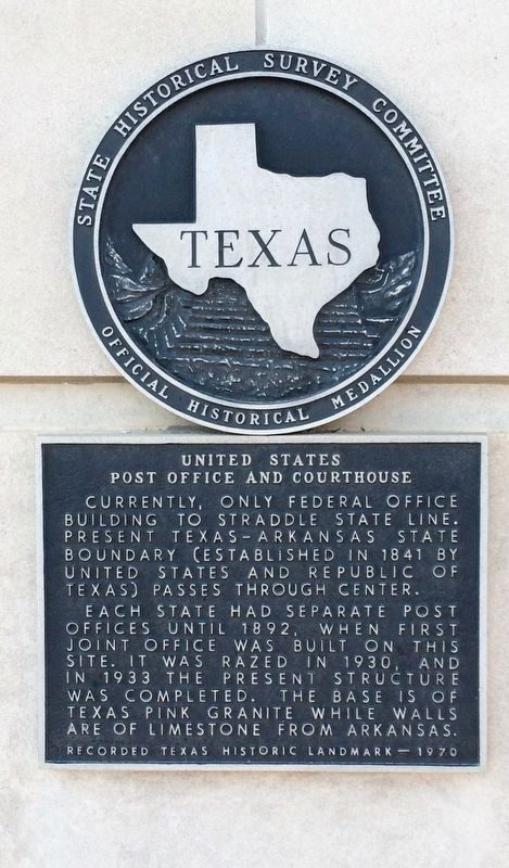 United States Post Office and Courthouse Marker image. Click for full size.