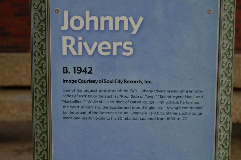 Johnny Rivers Marker image. Click for full size.