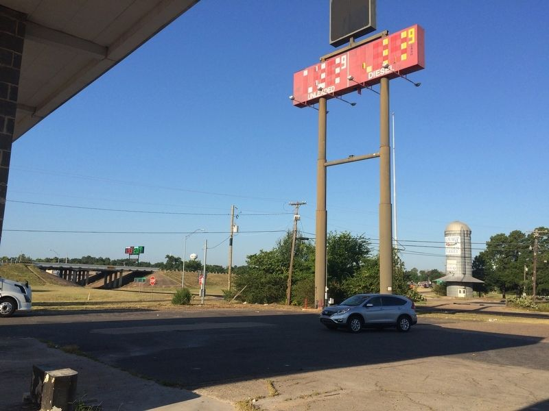 View from marker area to Interstate 30 exchange. image. Click for full size.
