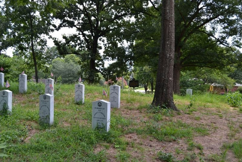 Cenotaphs of Arkansan Soldiers in Glidewell Cemetery image. Click for full size.