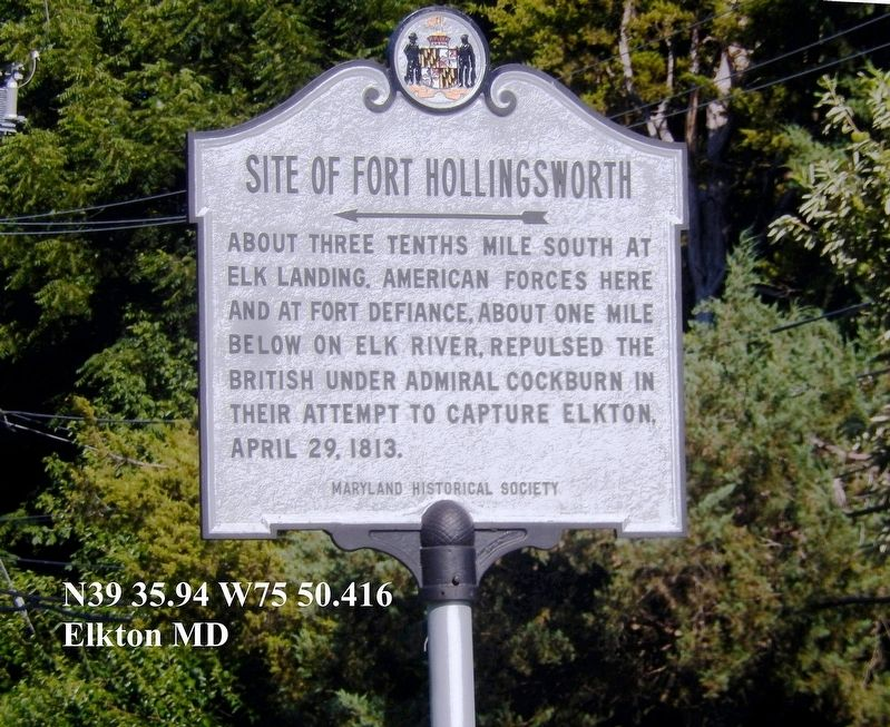 Site of Fort Hollingsworth marker image. Click for full size.