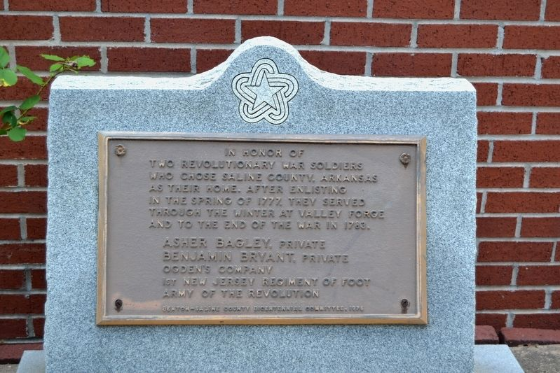 Saline County Revolutionary War Soldiers Marker image. Click for full size.