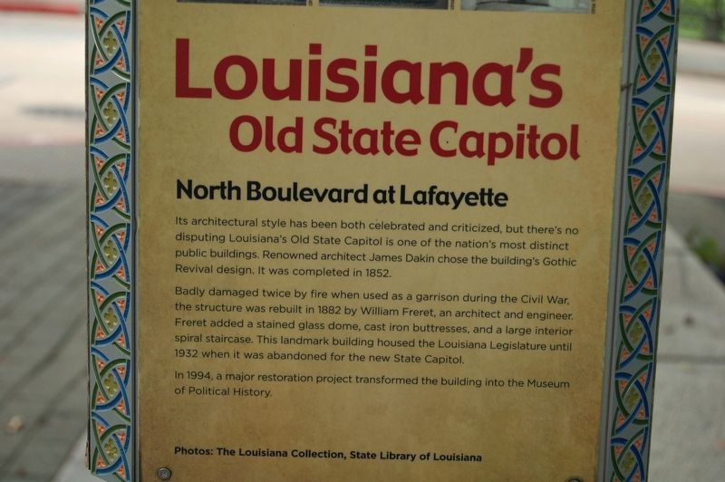 Louisiana's Old State Capitol Marker image. Click for full size.