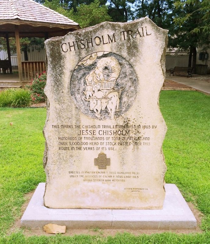 Chisholm Trail Marker image. Click for full size.