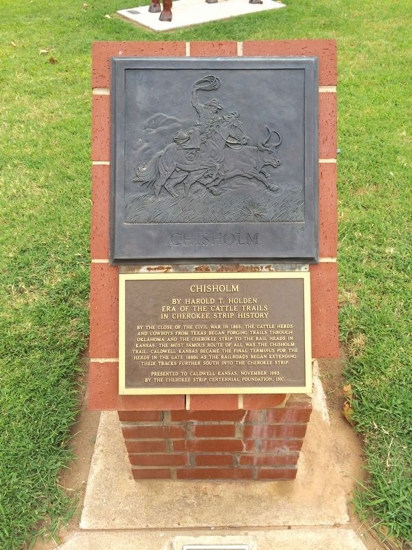 Chisholm Trail Monument image. Click for full size.