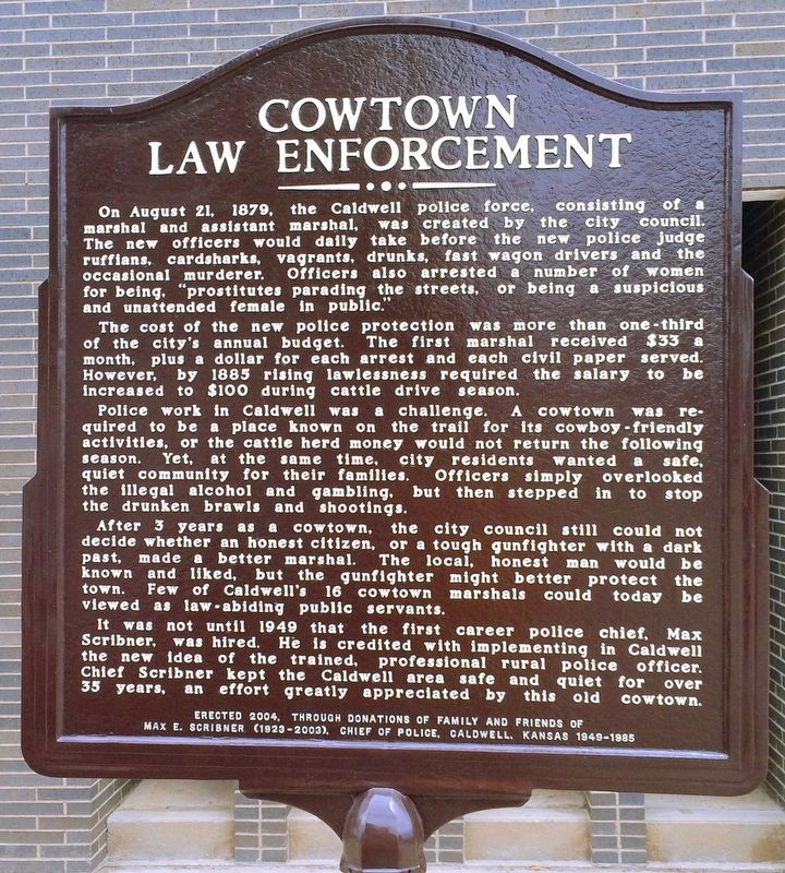 Cowtown Law Enforcement Marker image. Click for full size.