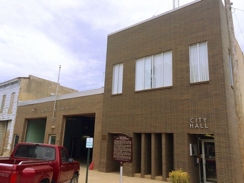 Caldwell City Hall and Fire Station. image. Click for full size.