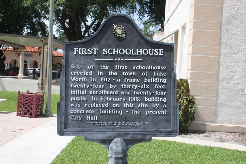 First Schoolhouse Marker image. Click for full size.