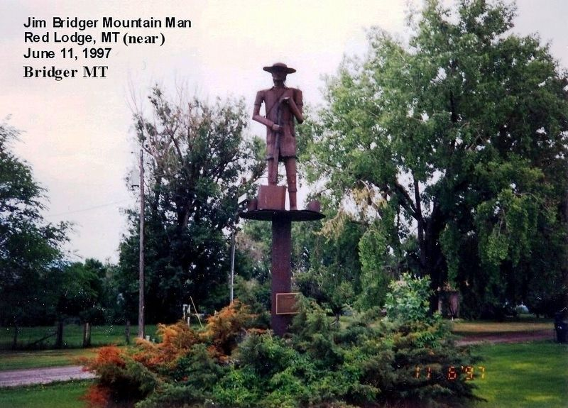 Jim Bridger, Mountain Man Statue image. Click for full size.