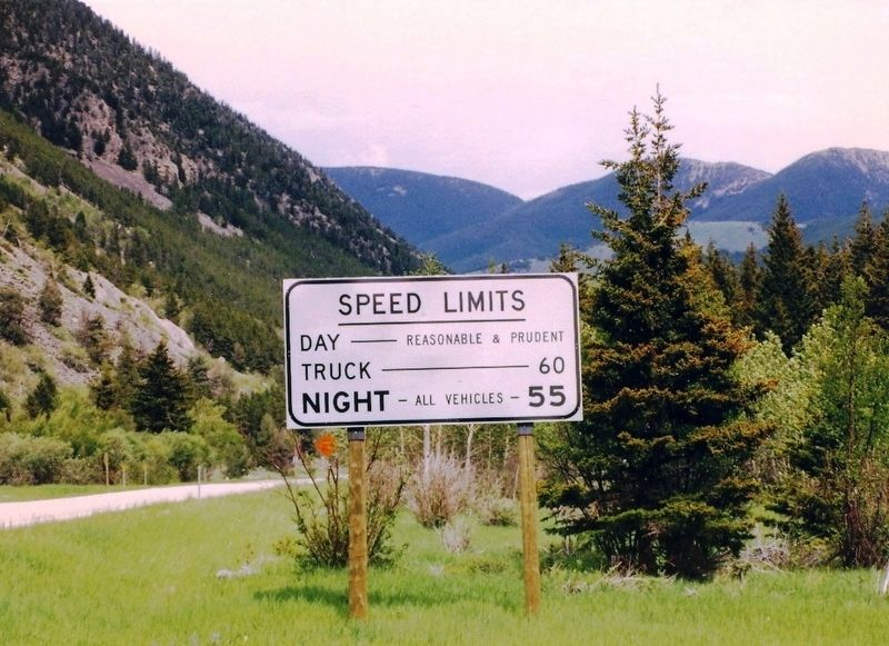 Speed Limits-Montana image. Click for full size.
