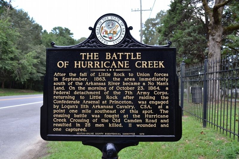 The Battle of Hurricane Creek Marker image. Click for full size.