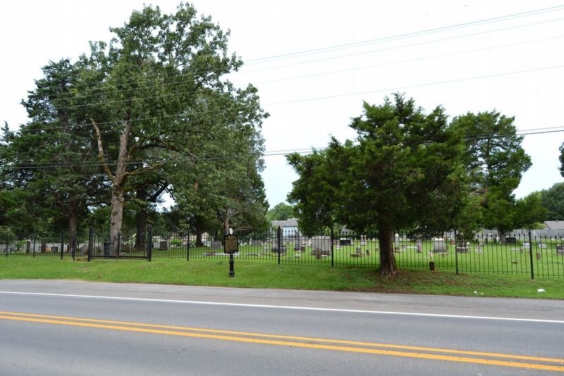 Marker in Front of Bryant Cemetery image. Click for full size.
