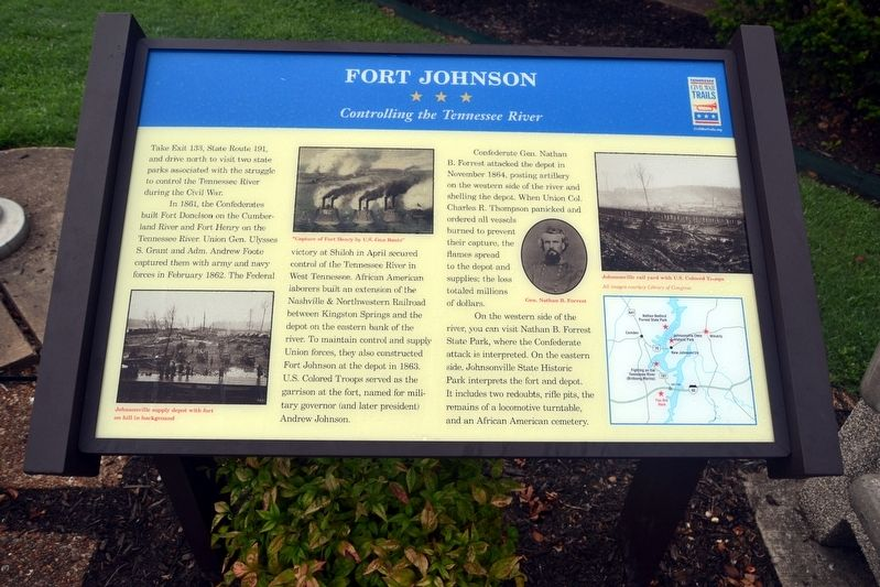Fort Johnson Marker image. Click for full size.