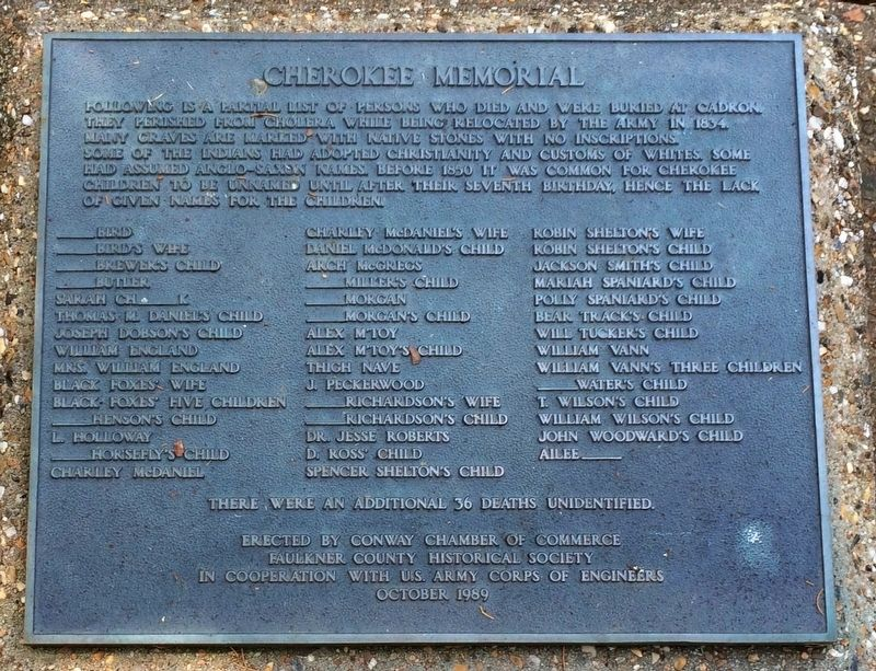 Cherokee Memorial Plaque image. Click for full size.