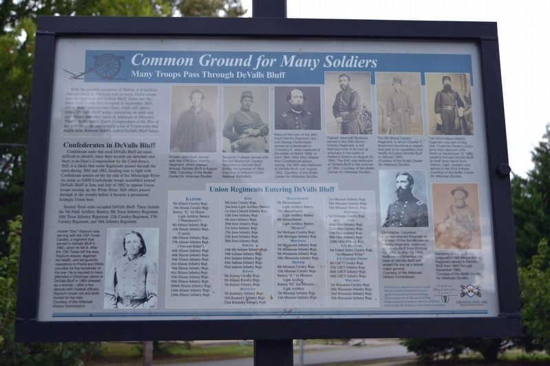 Common Ground for Many Soldiers Marker image. Click for full size.