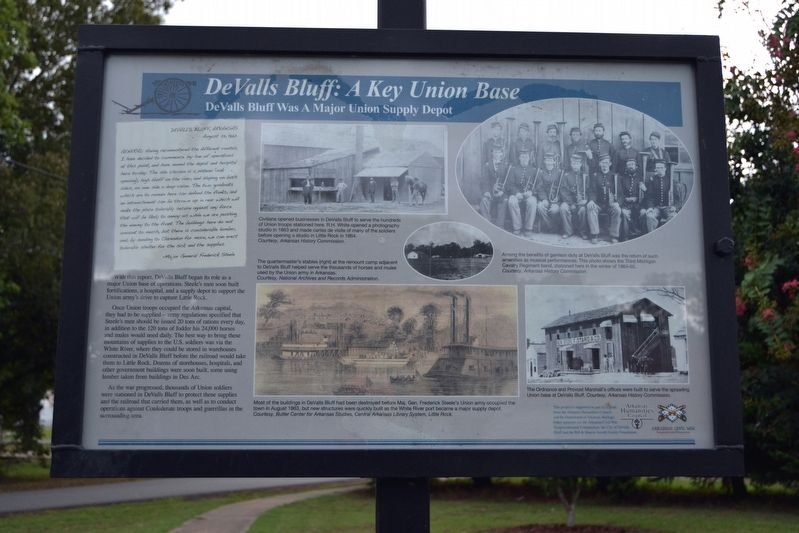 DeValls Bluff: A Key Union Base Marker image. Click for full size.