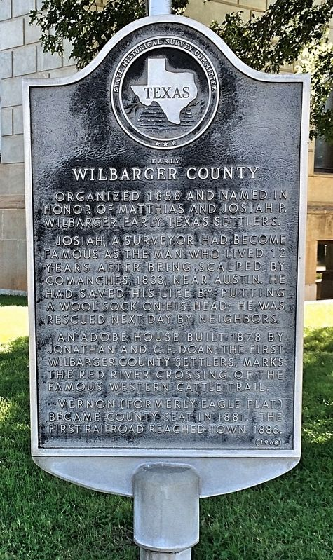 Early Wilbarger County Marker image. Click for full size.