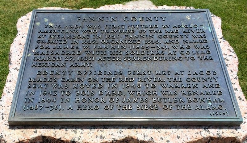 Fannin County Marker image. Click for full size.