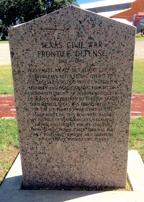 Texas Civil War Frontier Defense Marker image. Click for full size.