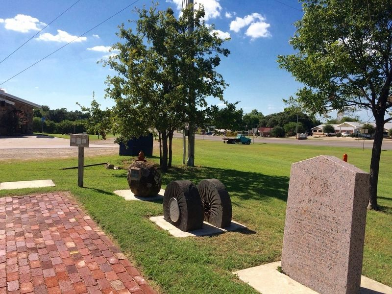 The view west on U.S. Highway 82 next to the Tales N' Trails Museum (far left). image. Click for full size.