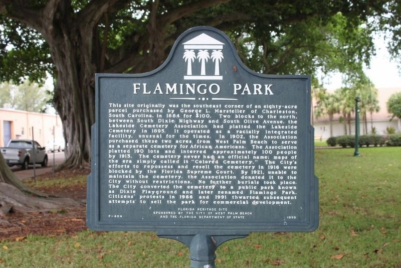 Flamingo Park Marker image. Click for full size.