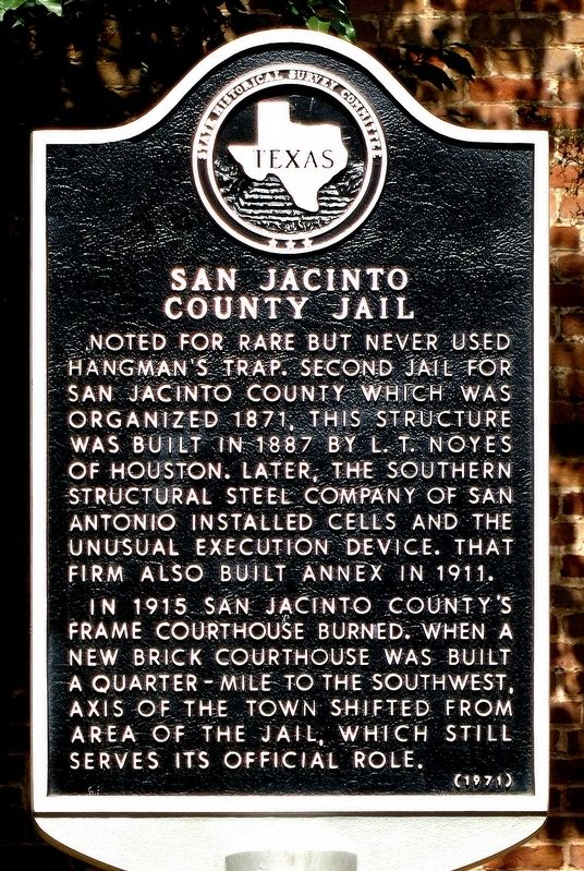San Jacinto County Jail Marker image. Click for full size.