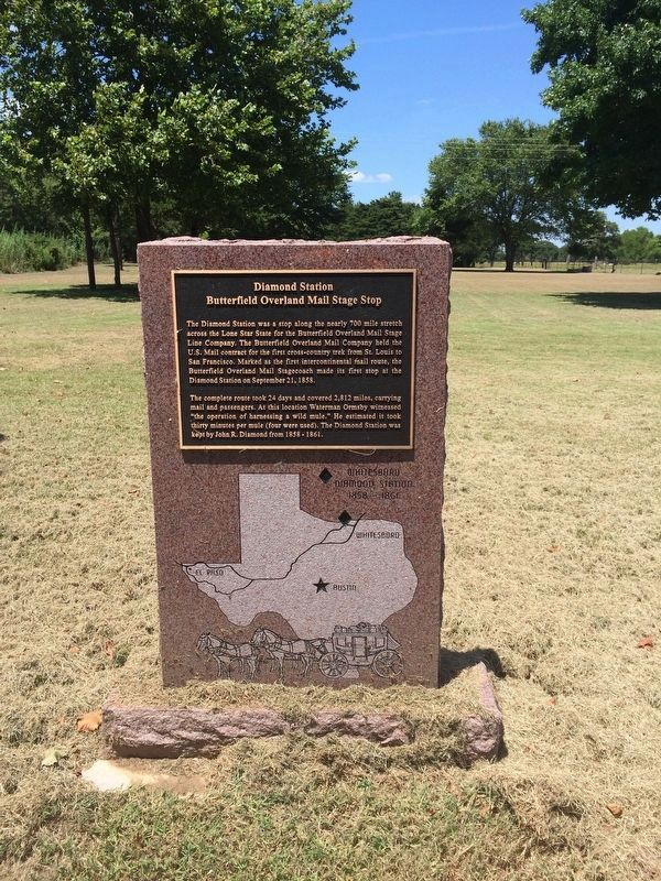 Nearby Diamond Station marker. image. Click for full size.