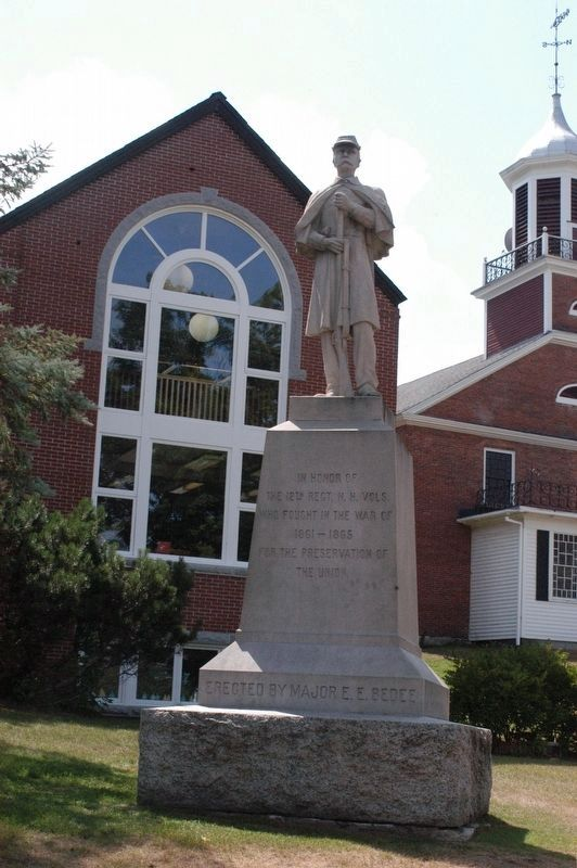Meredith New Hampshire Civil War Memorial image. Click for full size.