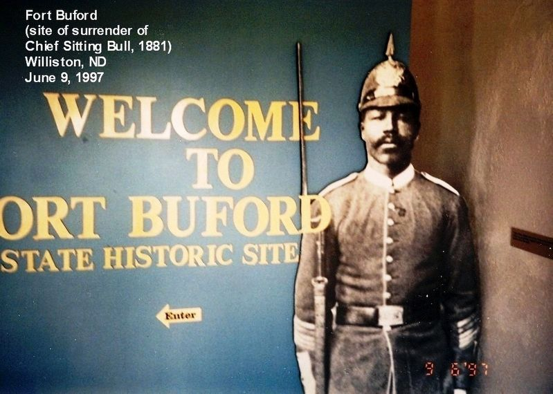 Fort Buford Historic Site-Entrance sign to the museum image. Click for full size.