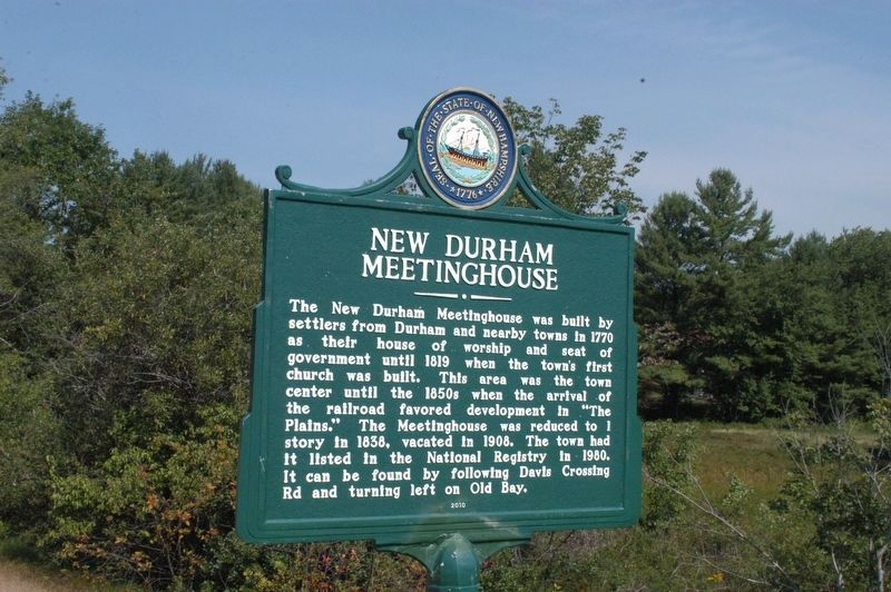 New Durham Meeting House Marker image. Click for full size.