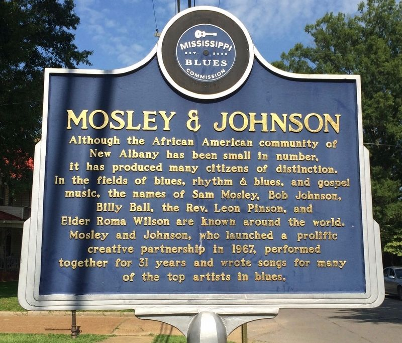 Mosley and Johnson Marker (Front) image. Click for full size.