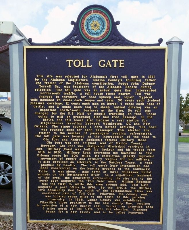 Toll Gate Marker (Side 2) image. Click for full size.