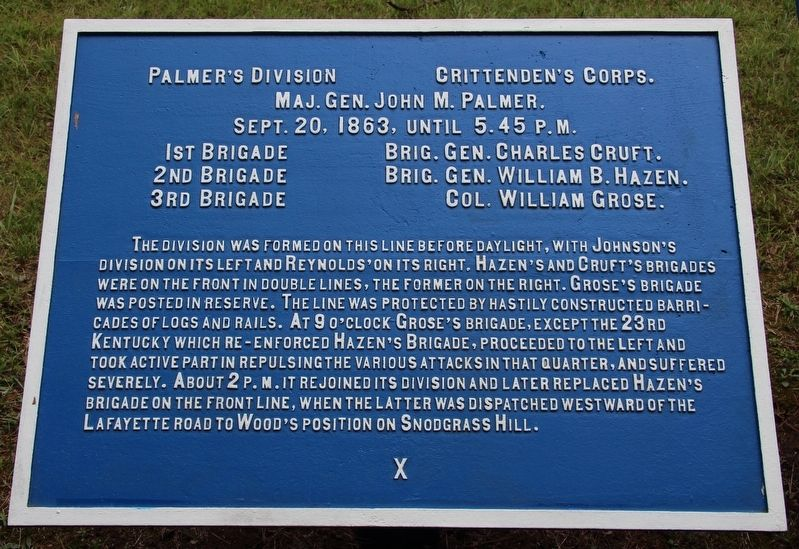 Palmer's Division Marker image. Click for full size.