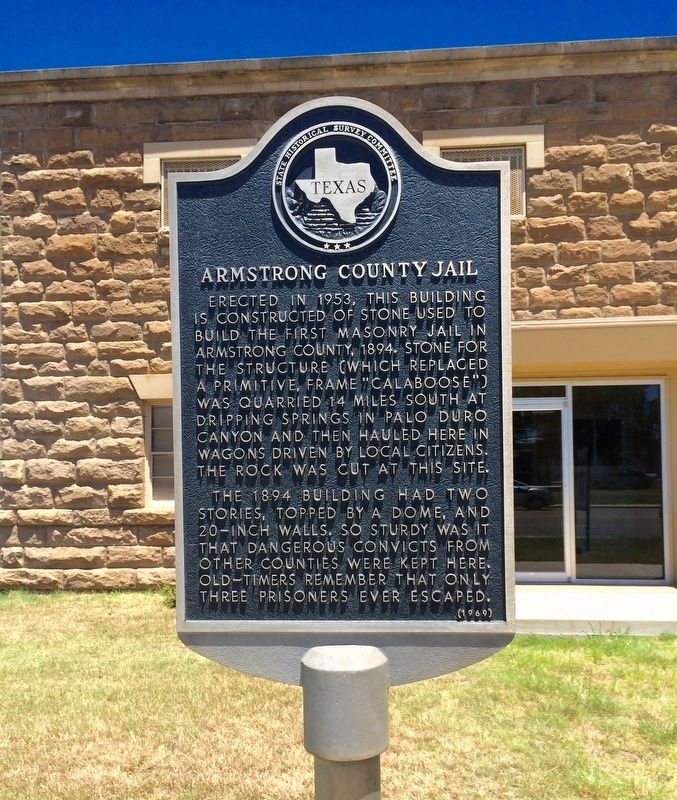 Armstrong County Jail Marker image. Click for full size.