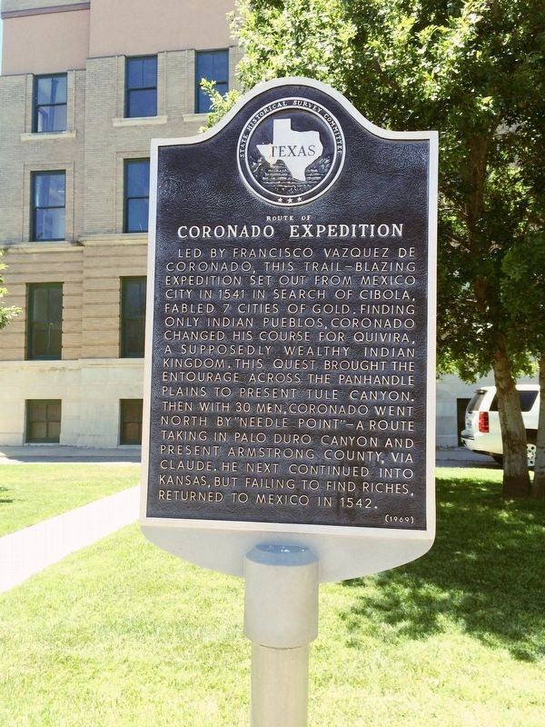 Route of Coronado Expedition Marker image. Click for full size.