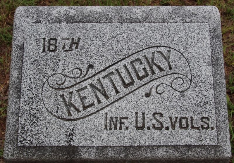 18th Kentucky (USA) Marker image. Click for full size.