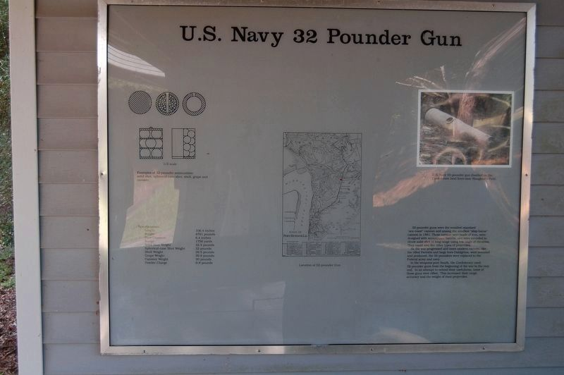 U.S. Navy 32 Pounder Gun Marker image. Click for full size.