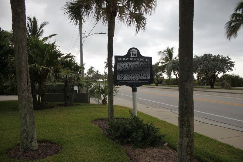 Delray Beach Hotel Marker with FL A1A image. Click for full size.